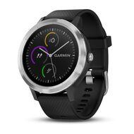 Смарт-часы Garmin Vivoactive 3 с функцией GARMIN PAY, серебристые с черным ремешком (010-01769-02)