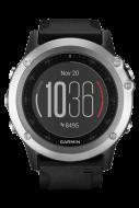 Навигатор-часы Garmin Fenix 3 HR серебрянный с черным силикон. браслетом (010-01338-77)
