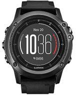 Навигатор-часы Garmin Fenix 3 Sapphire HR серый с черным силикон. браслетом (010-01338-71)