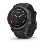 Мультиспортивные часы Garmin Fenix 6S Sapphire с GPS, серые с черным ремешком (010-02159-25)