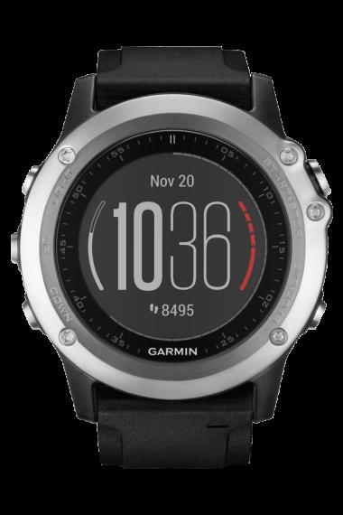 Спортивные часы garmin fenix 3 hr серебряные с черным ремешком Garmin. Артикул: 010-01338-77
