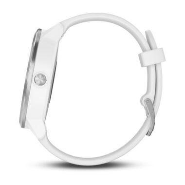 Смарт-часы Garmin Vivoactive 3 с функцией GARMIN PAY, серебристые с белым ремешком (010-01769-22) #2