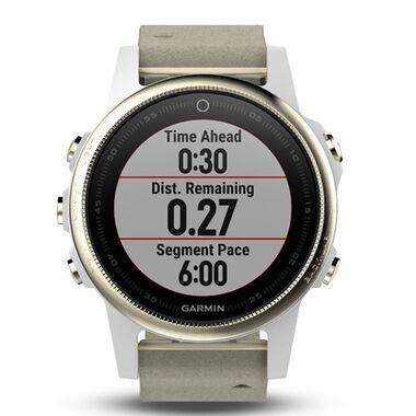 Спортивные часы garmin fenix 5s sapphire золотистые с замшевым ремешком Garmin. Артикул: 010-01685-13