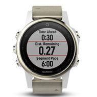 Мультиспортивные часы Garmin Fenix 5S Sapphire с GPS, шампань с серым ремешком (010-01685-13)