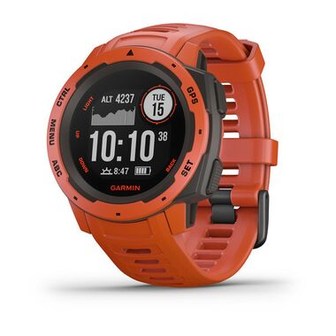 Защищенные gps-часы garmin instinct flame red Garmin. Артикул: 010-02064-02