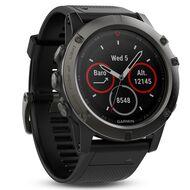 Мультиспортивные часы Garmin Fenix 5X Sapphire с GPS, серые с черным ремешком (010-01733-01)