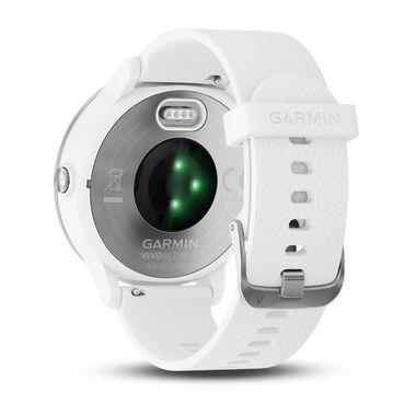 Смарт-часы Garmin Vivoactive 3 с функцией GARMIN PAY, серебристые с белым ремешком (010-01769-22) #3