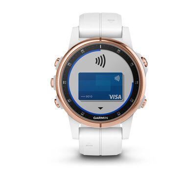 Мультиспортивные часы Garmin Fenix 5S PLUS Sapphire черные/роз.золото с бел. ремешком (010-01987-07) #3