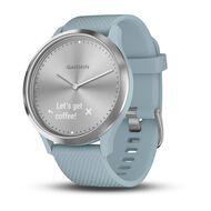 Часы с трекером активности Garmin VivoMove HR Sport, серебр., силик.ремеш. 107-177мм (010-01850-08)