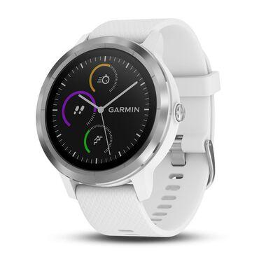 Смарт-часы garmin vivoactive 3 серебристые с белым ремешком Garmin. Артикул: 010-01769-22