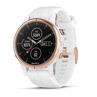 Мультиспортивные часы Garmin Fenix 5S PLUS Sapphire черные/роз.золото с бел. ремешком (010-01987-07)