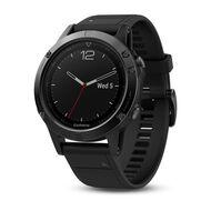 Мультиспортивные часы Garmin Fenix 5 Sapphire с GPS, с черн. ремешком (010-01688-11)