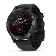 Мультиспортивные часы Garmin Fenix 5 PLUS Sapphire черные с черным ремешком (010-01988-01)