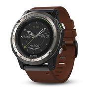Навигатор-часы Garmin D2 Charlie, Titanium Bezel, с кожаным и силиконовым ремешками (010-01733-31)