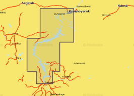 Карта Navionics 5G764S Красноярское водохранилище (5G764S)