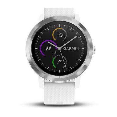Смарт-часы Garmin Vivoactive 3 с функцией GARMIN PAY, серебристые с белым ремешком (010-01769-22) #1