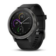 Смарт-часы Garmin Vivoactive 3 с функцией GARMIN PAY, черные с черным ремешком (010-01769-12)