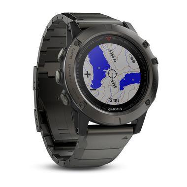 Мультиспортивные часы Garmin Fenix 5X Sapphire с GPS, серые с металлическим браслетом (010-01733-03) #1