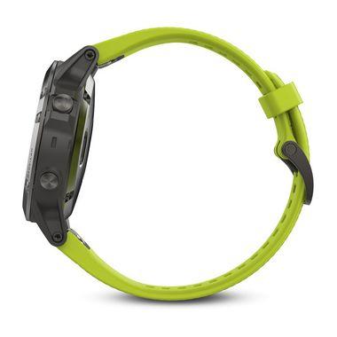 Мультиспортивные часы Garmin Fenix 5 с GPS, с желтым ремешком (010-01688-02) #1