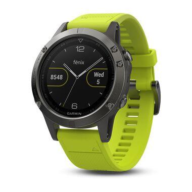 Спортивные часы garmin fenix 5 серые с желтым ремешком Garmin. Артикул: 010-01688-02