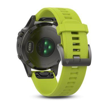 Мультиспортивные часы Garmin Fenix 5 с GPS, с желтым ремешком (010-01688-02) #2