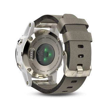 Мультиспортивные часы Garmin Fenix 5S Sapphire с GPS, шампань с серым ремешком (010-01685-13) #2