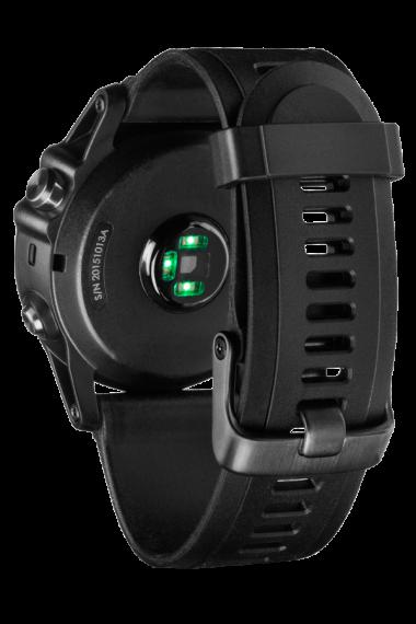 Навигатор-часы Garmin Fenix 3 HR серебрянный с черным силикон. браслетом (010-01338-77) #3