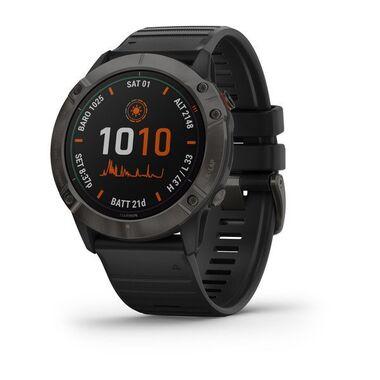 Мультиспортивные часы garmin fenix 6x pro solar с gps, титановый с черным ремешком. Артикул: 010-02157-21