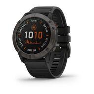Мультиспортивные часы Garmin Fenix 6X PRO Solar с GPS, титановый с черным ремешком (010-02157-21)