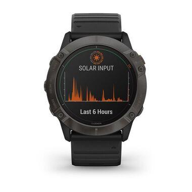Мультиспортивные часы Garmin Fenix 6X PRO Solar с GPS, титановый с черным ремешком (010-02157-21) #1