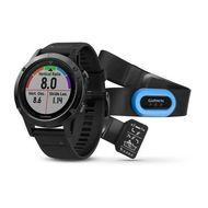 Мультиспортивные часы Garmin Fenix 5 Sapphire с GPS, с черн. ремешком и пульсометром (010-01688-32)