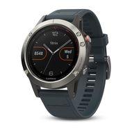 Мультиспортивные часы Garmin Fenix 5 с GPS, с синим ремешком (010-01688-01)