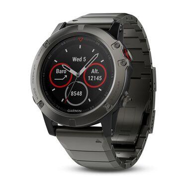 Спортивные часы garmin fenix 5x sapphire серые с металлическим браслетом Garmin. Артикул: 010-01733-03