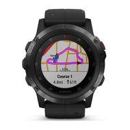 Мультиспортивные часы Garmin Fenix 5x PLUS Sapphire RUSSIA черные с черным ремешком (010-01989-11)